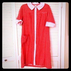 🎉$10 SALE🎉VTG SEARS unique checked dress